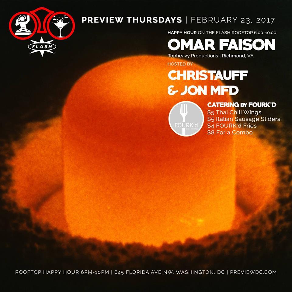 Preview feat. Omar Faison event thumbnail
