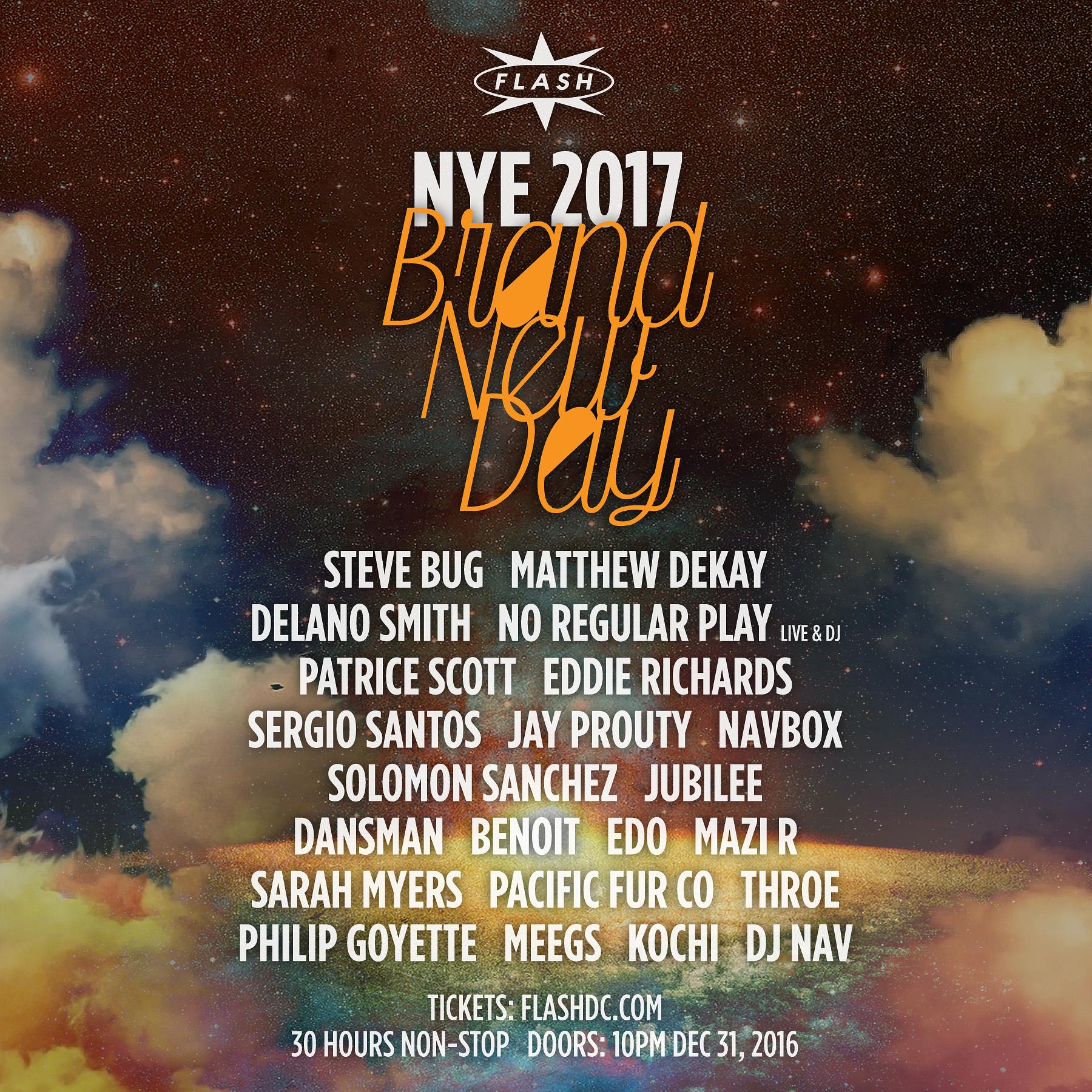 Flash NYE 2017: Brand New Day w/ Steve Bug, Delano Smith + more event thumbnail