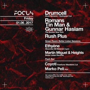 FOCUS: Drumcell w/ Romans AKA Tin Man & Gunnar Haslam LiVE event thumbnail