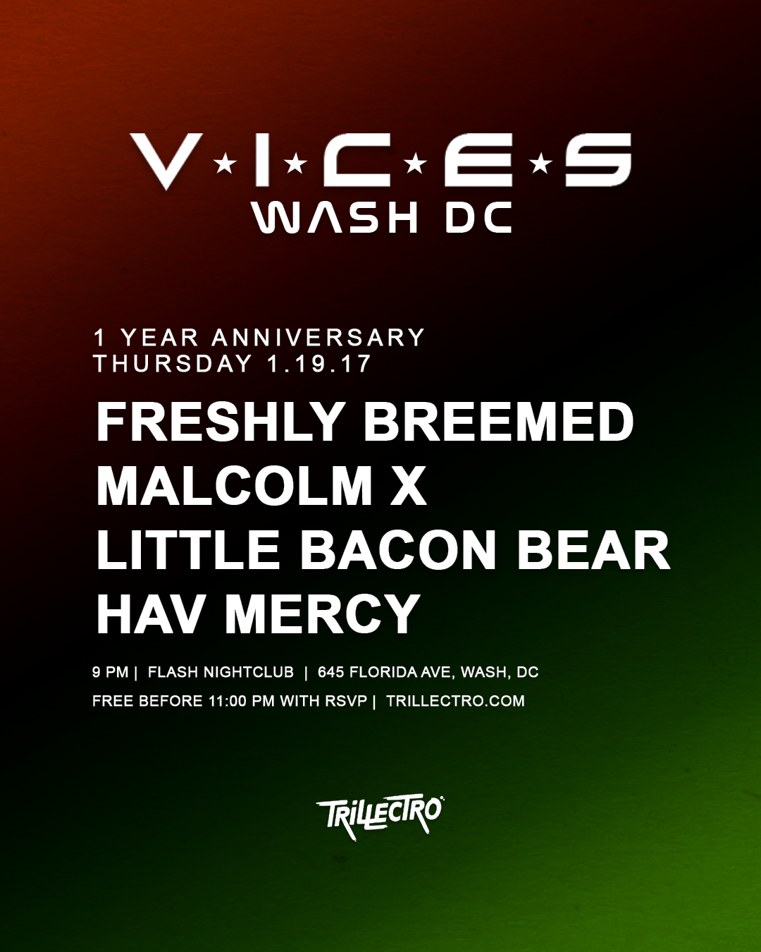 Vices DC: 1 Year Anniversary event thumbnail