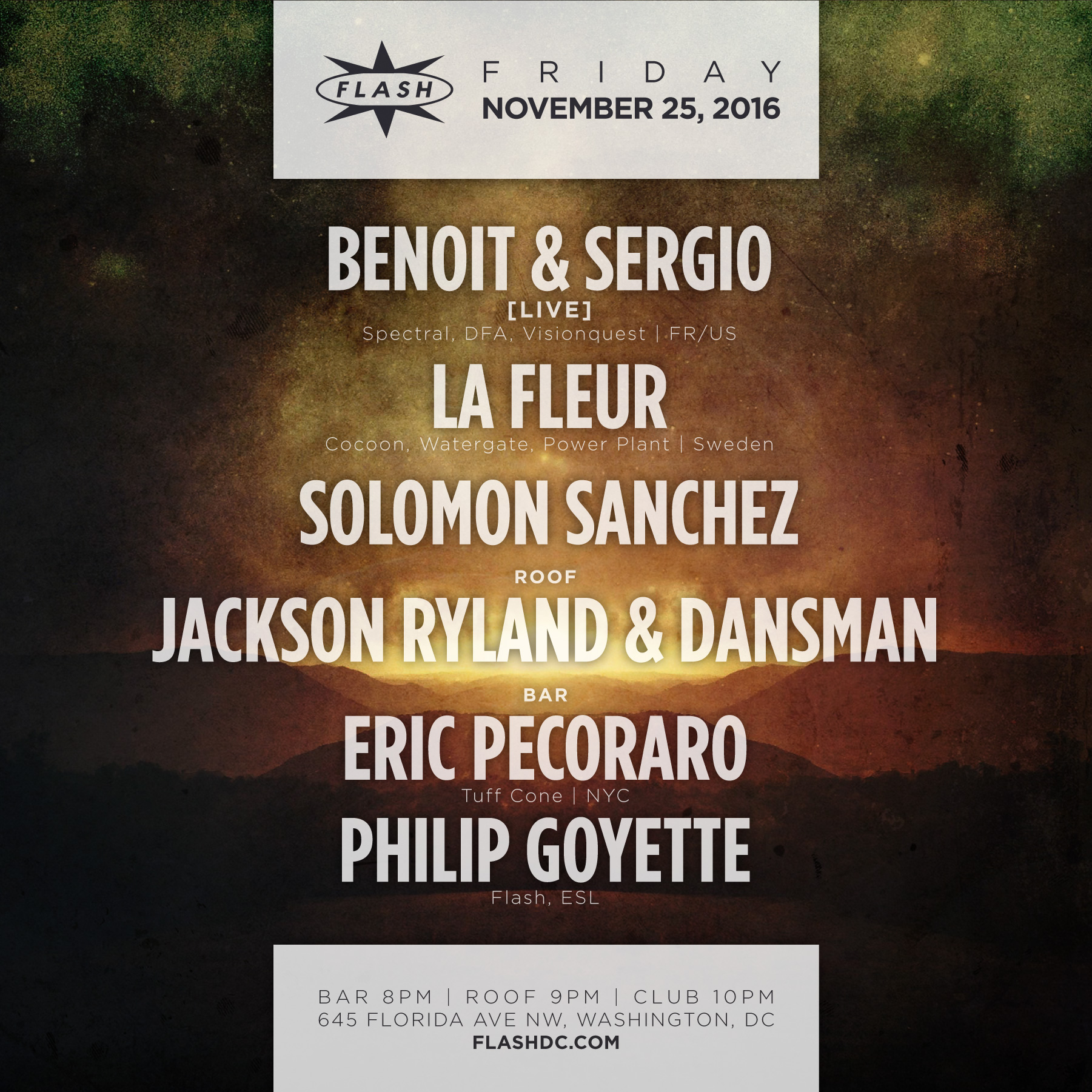 Benoit & Sergio Live, La Fleur event thumbnail