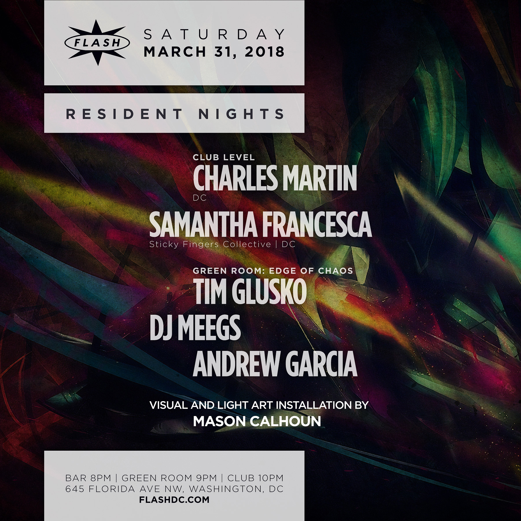 Resident Nights: Charles Martin - Samantha Francesca event thumbnail