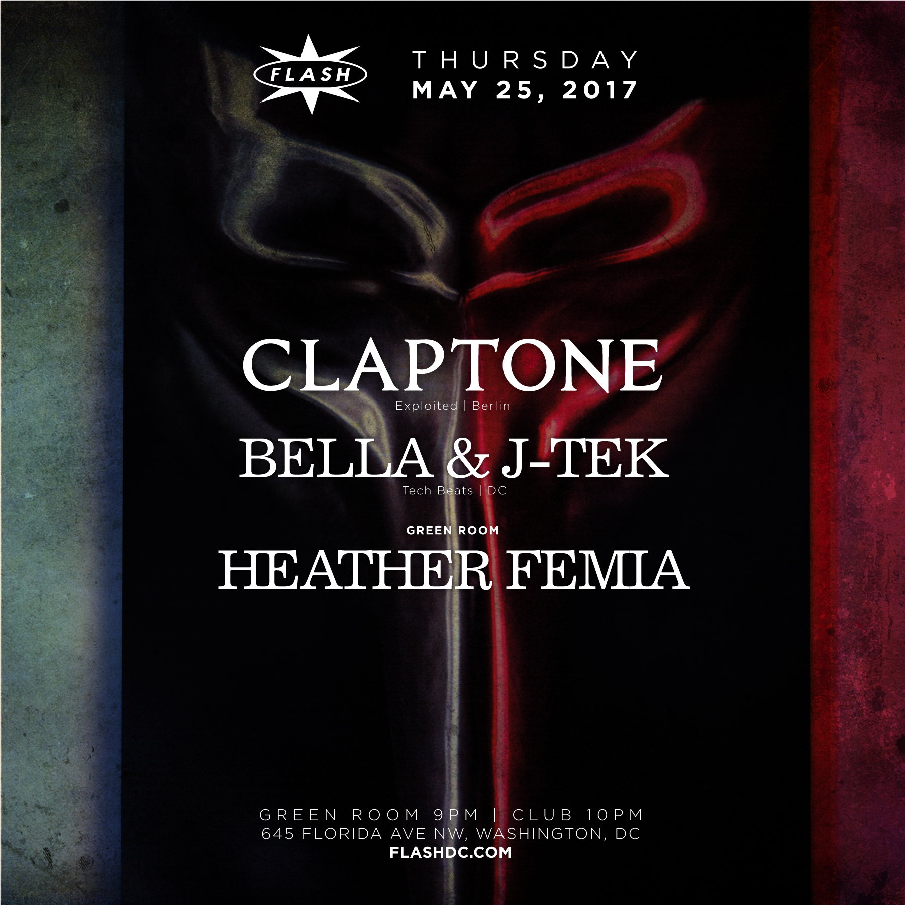 Claptone / Bella & J-Tek / Heather Femia event thumbnail