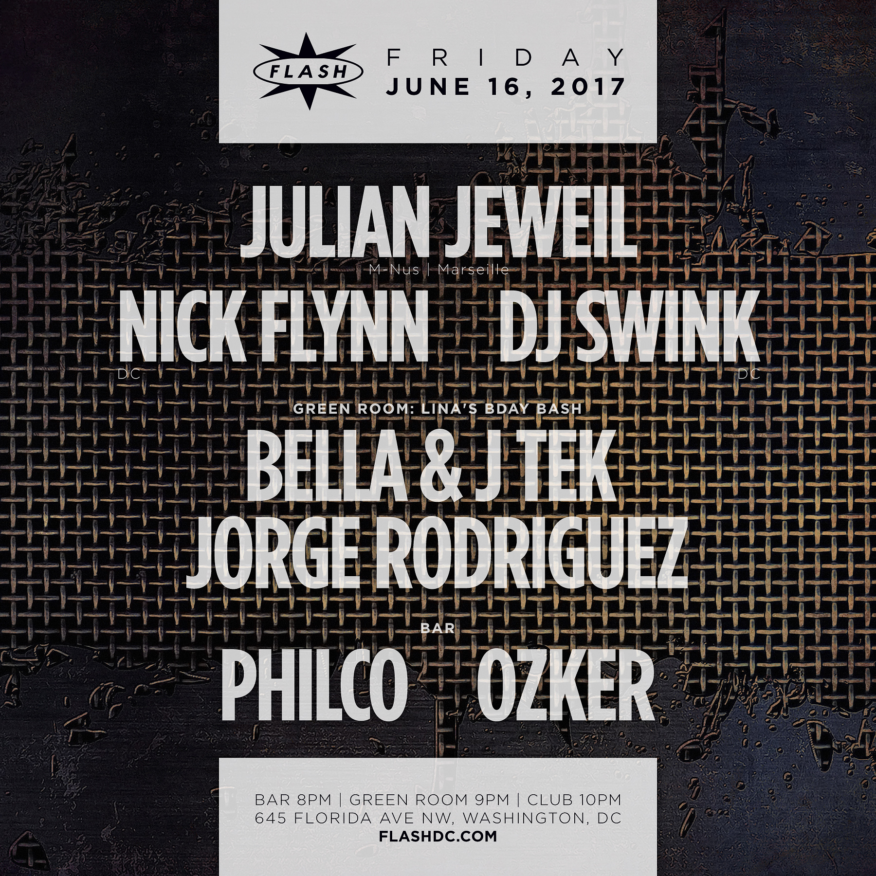 Julian Jeweil / Nick Flynn / DJ Swink / Bella & J Tek / Philco / Ozker event thumbnail