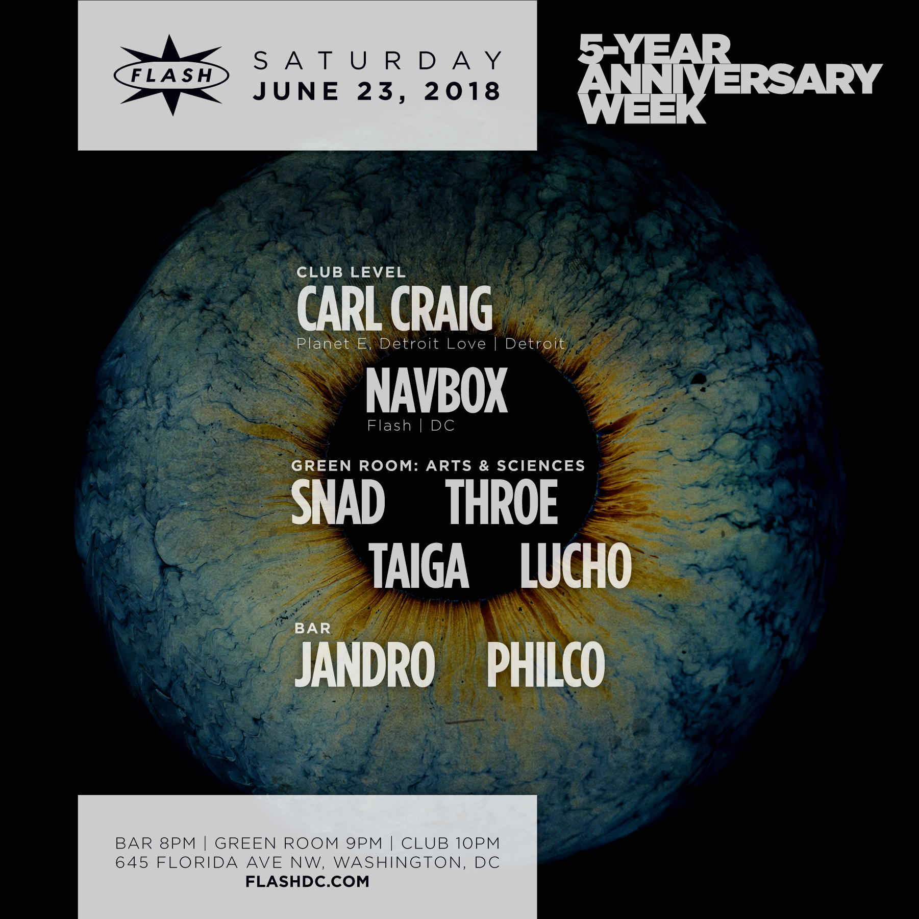 5 yrs of flash carl craig at flash on saturday june 23 2018 featured malvernweather Images