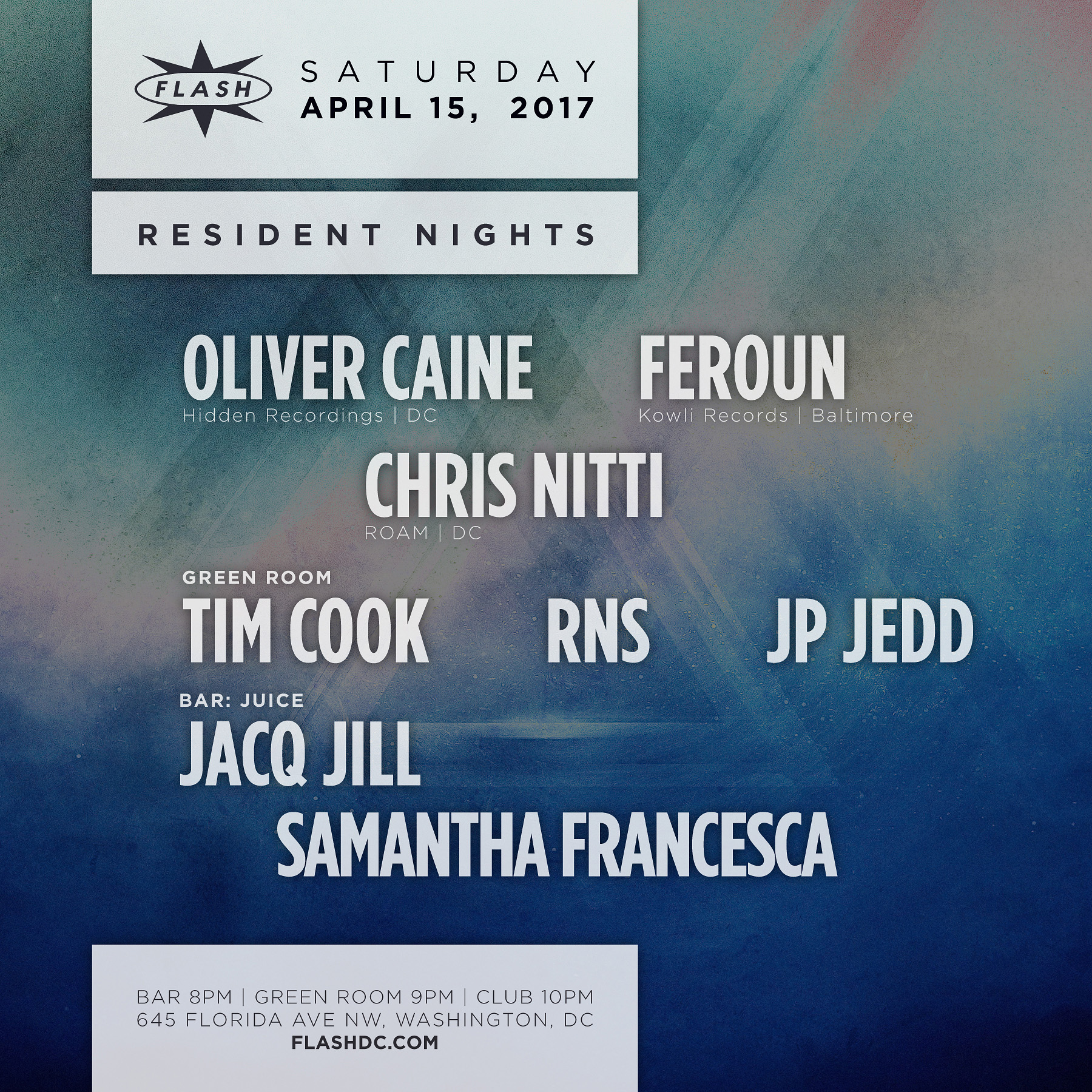 Resident Nights: Oliver Caine, Feroun, Chris Nitti; JUICE event thumbnail