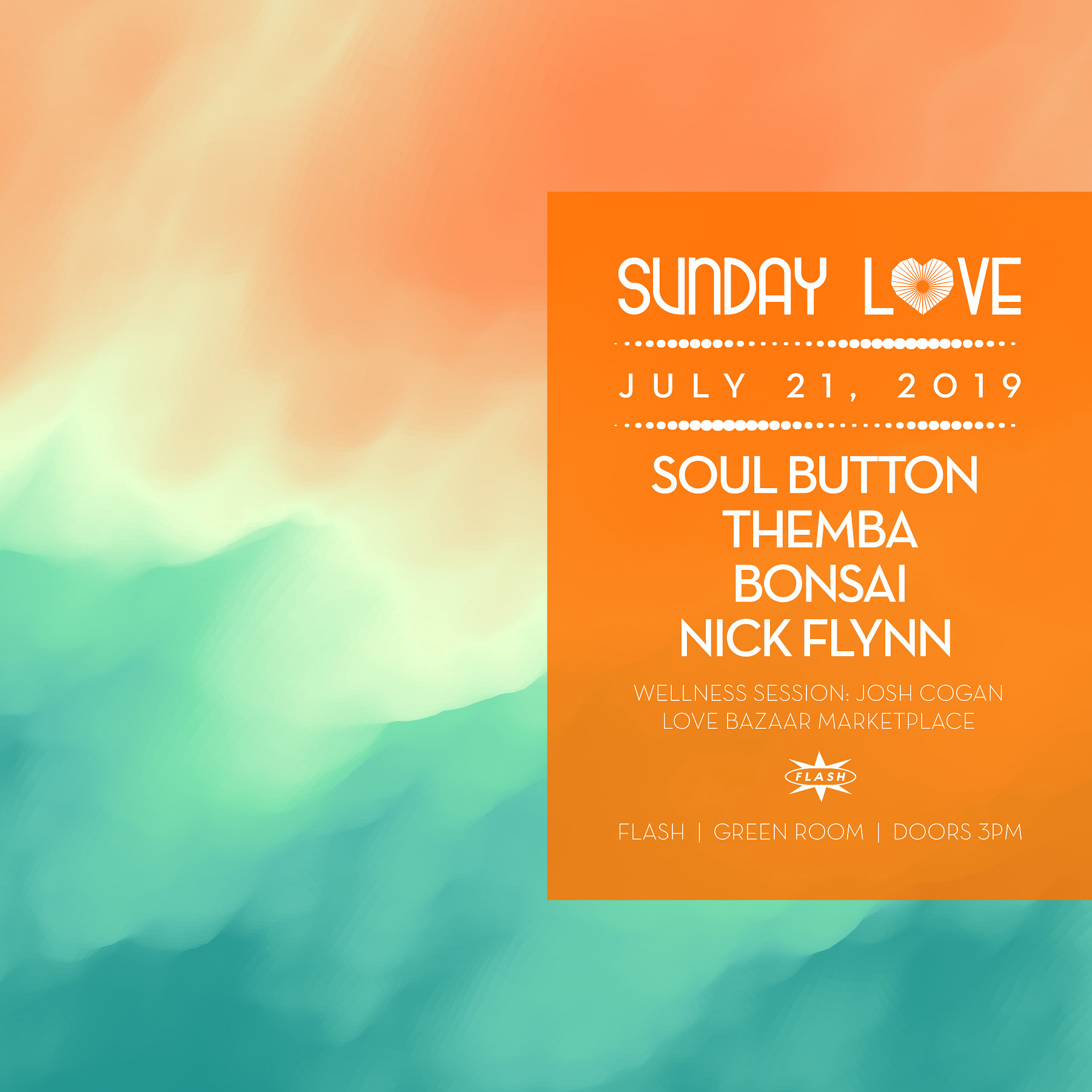 Sunday Love: Soul Button - Themba - Bonsai - Nick Flynn event thumbnail
