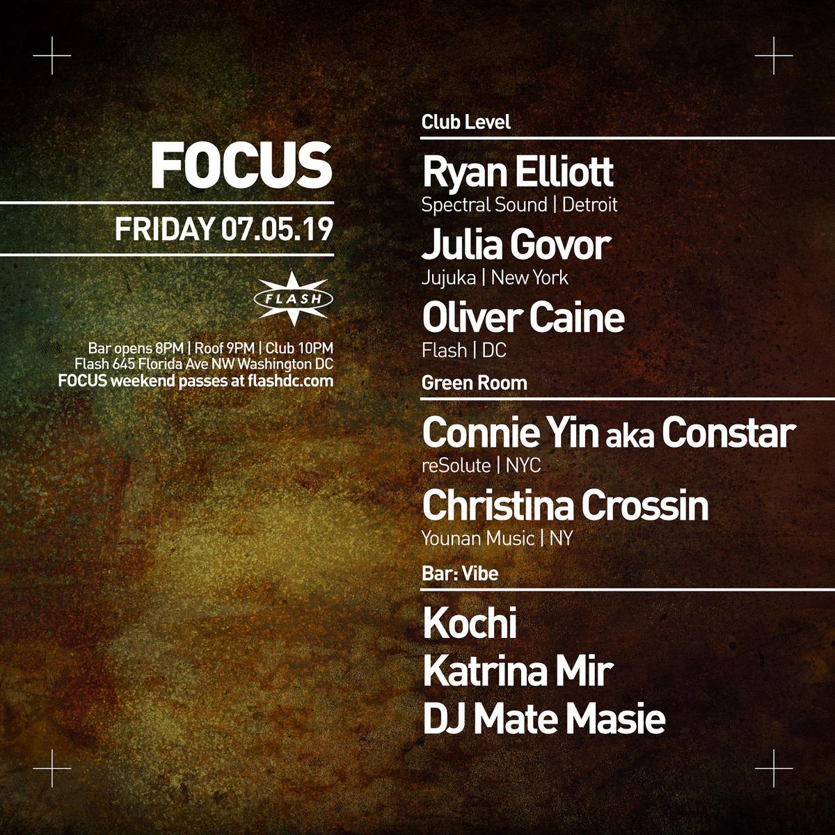 FOCUS: Ryan Elliott - Julia Govor  - Oliver Caine - Connie event thumbnail