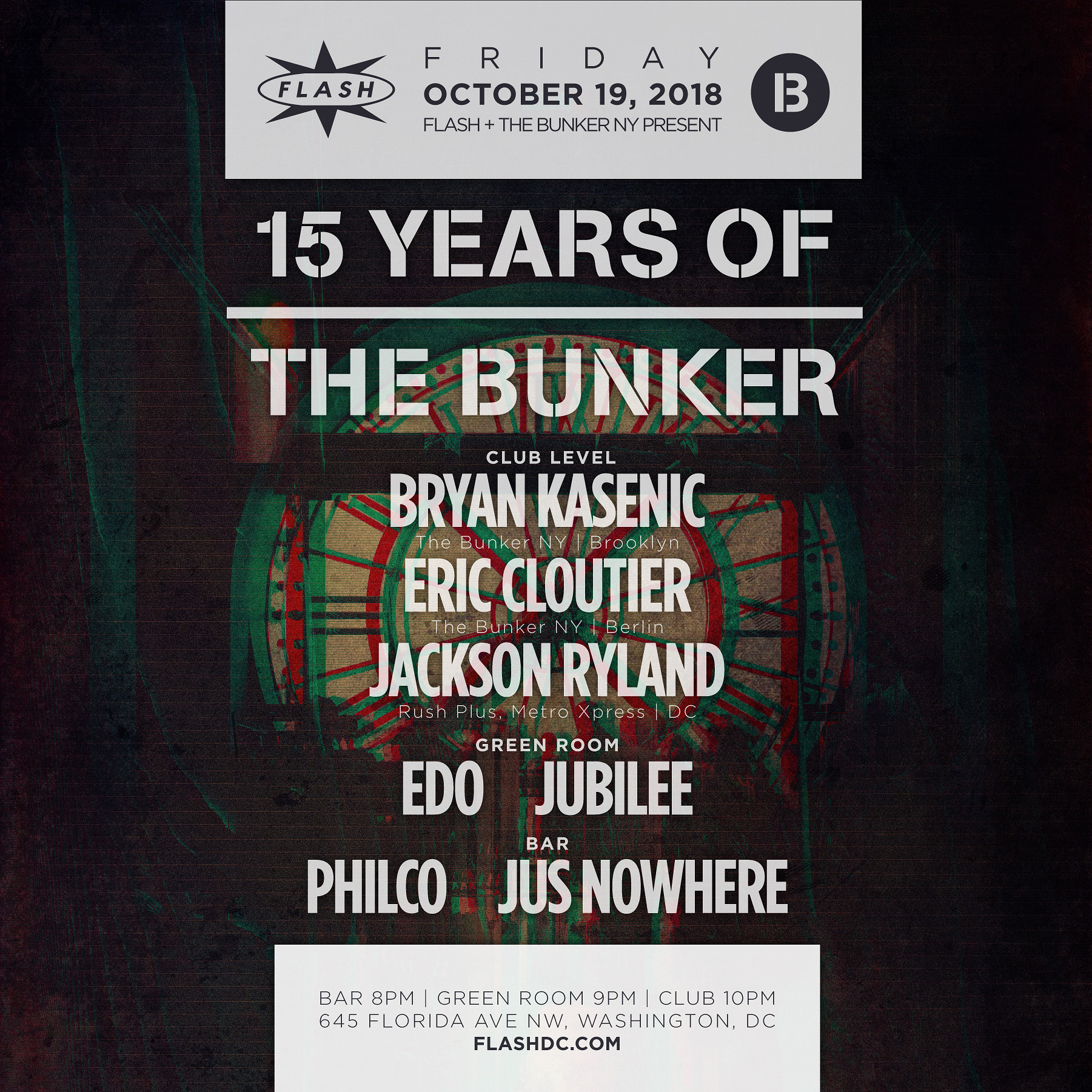 The Bunker 15 Year Anniversary: Bryan Kasenic - Eric Cloutier event thumbnail