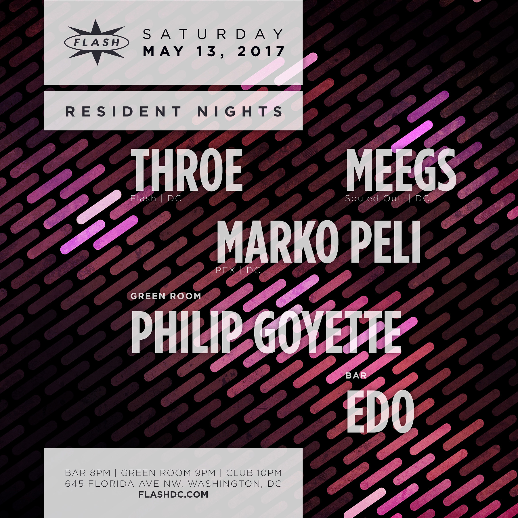 Resident Nights: Throe, Meegs, Marko Peli; Philip Goyette; Edo event thumbnail