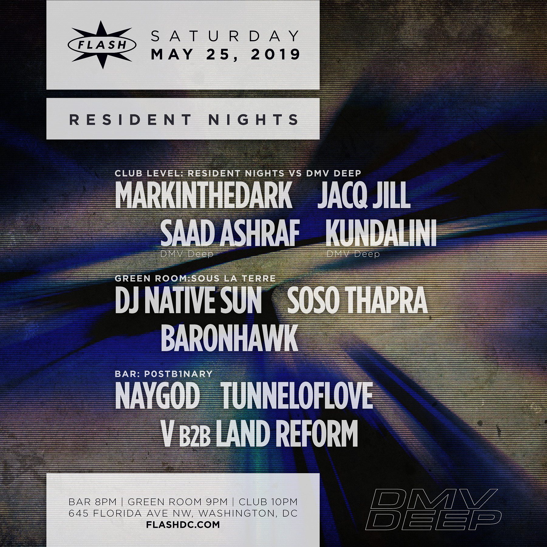Resident Night: markintheDark - Jacq Jill - Saad Ashraf - Kundalini high quality event photo