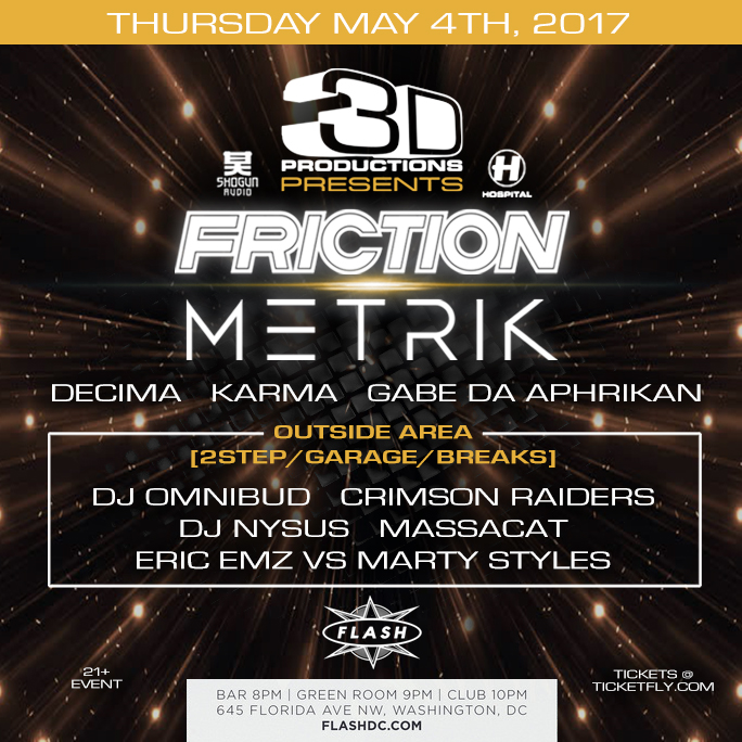 Friction, Metrik event thumbnail