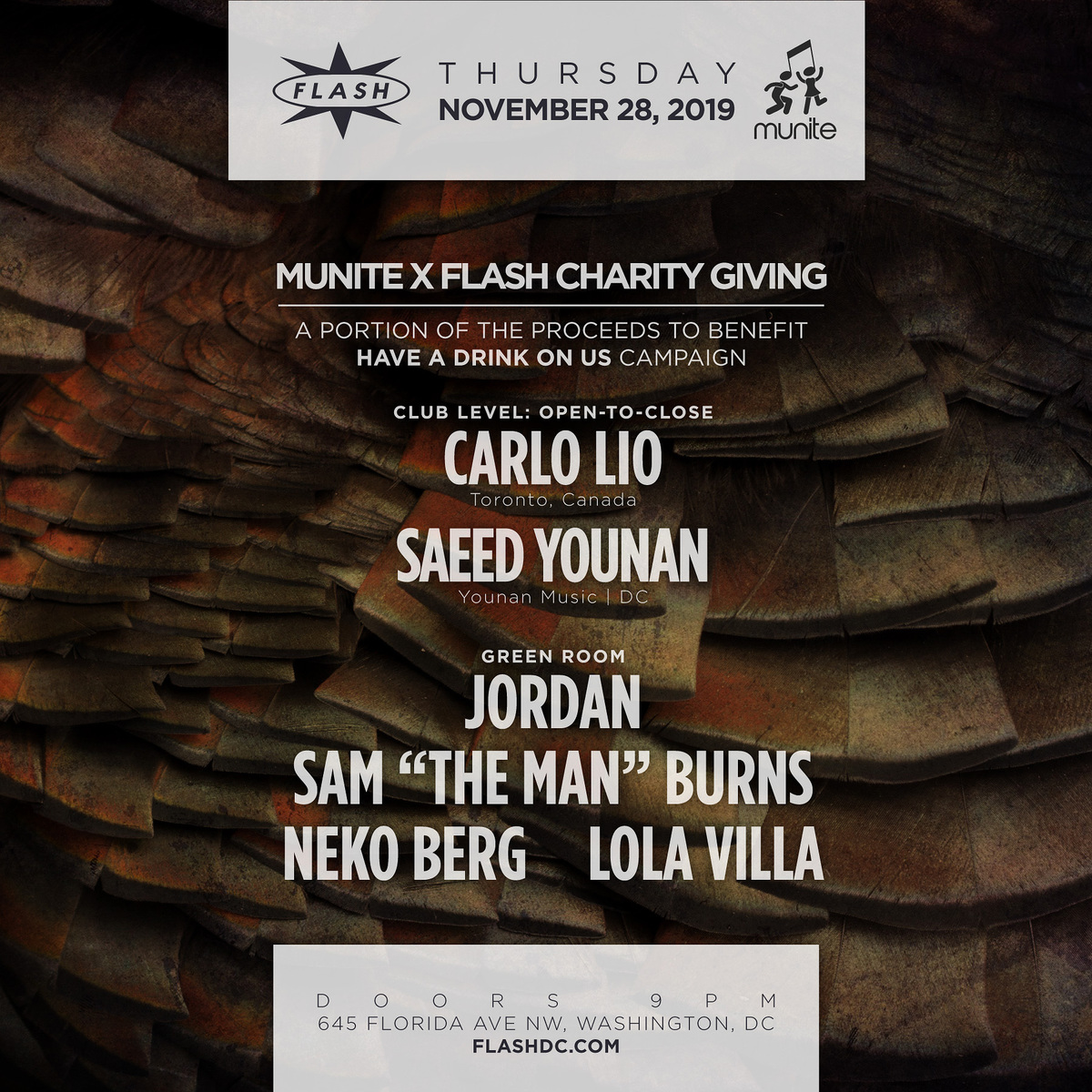 Munite x Flash Charity Giving: Carlo Lio - Saeed Younan + More high quality event photo