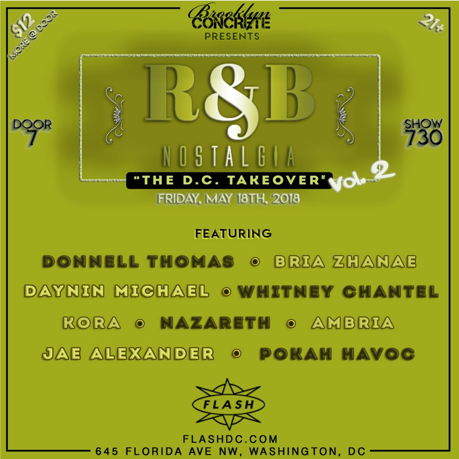 R&B Nostalgia The DC Takeover Vol. 2 event thumbnail