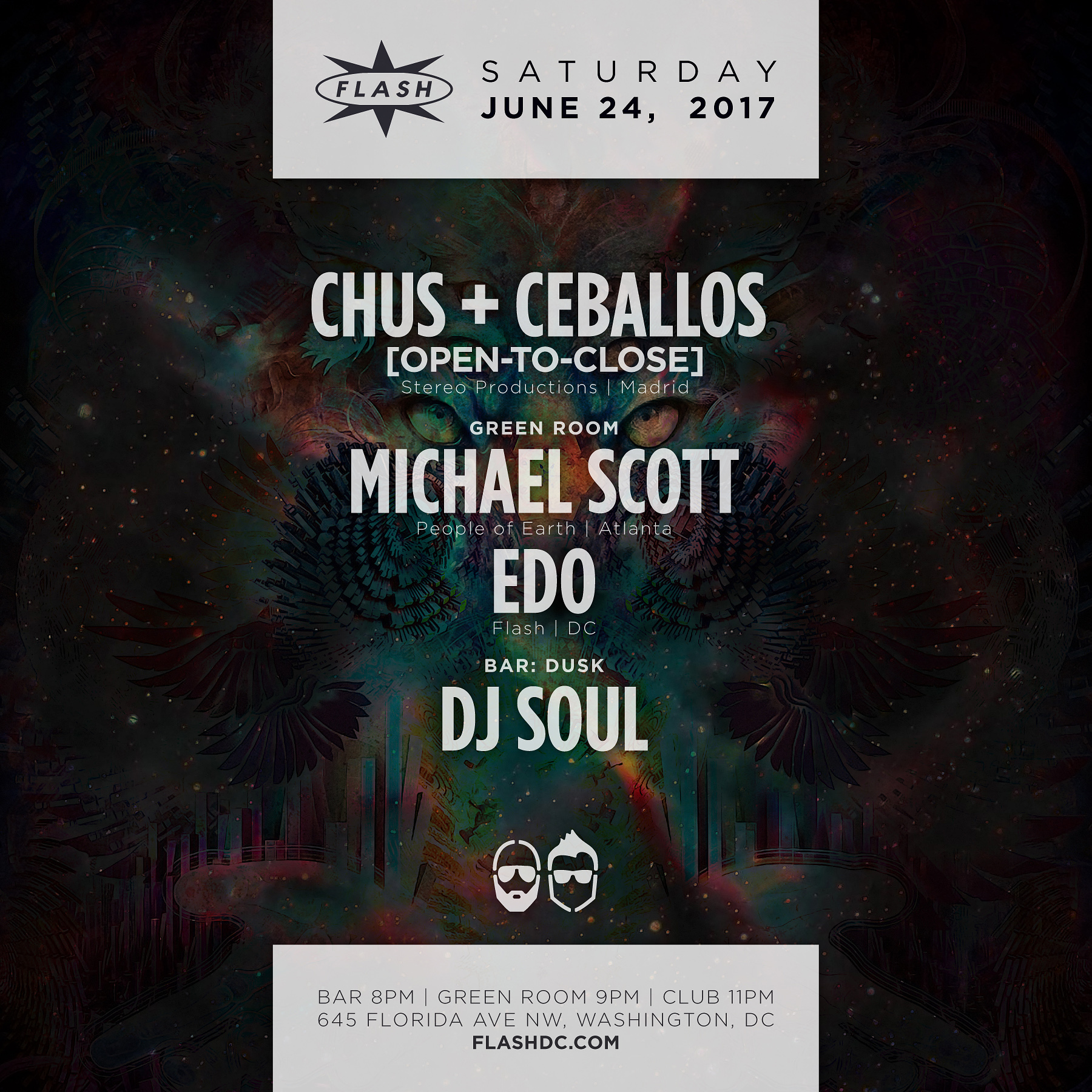 Chus & Ceballos [open-to-close] - Michael Scott - Edo - Dusk event thumbnail