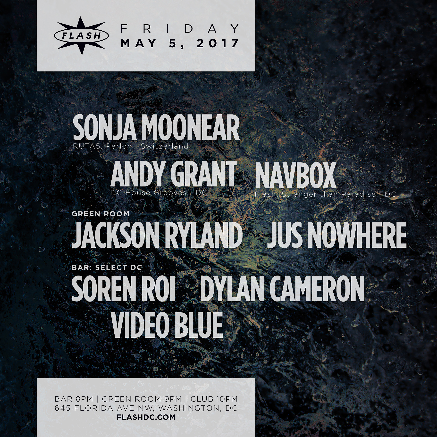 Sonja Moonear, Navbox, Andy Grant; Jackson Ryland & Jus Nowhere; Select DC event thumbnail