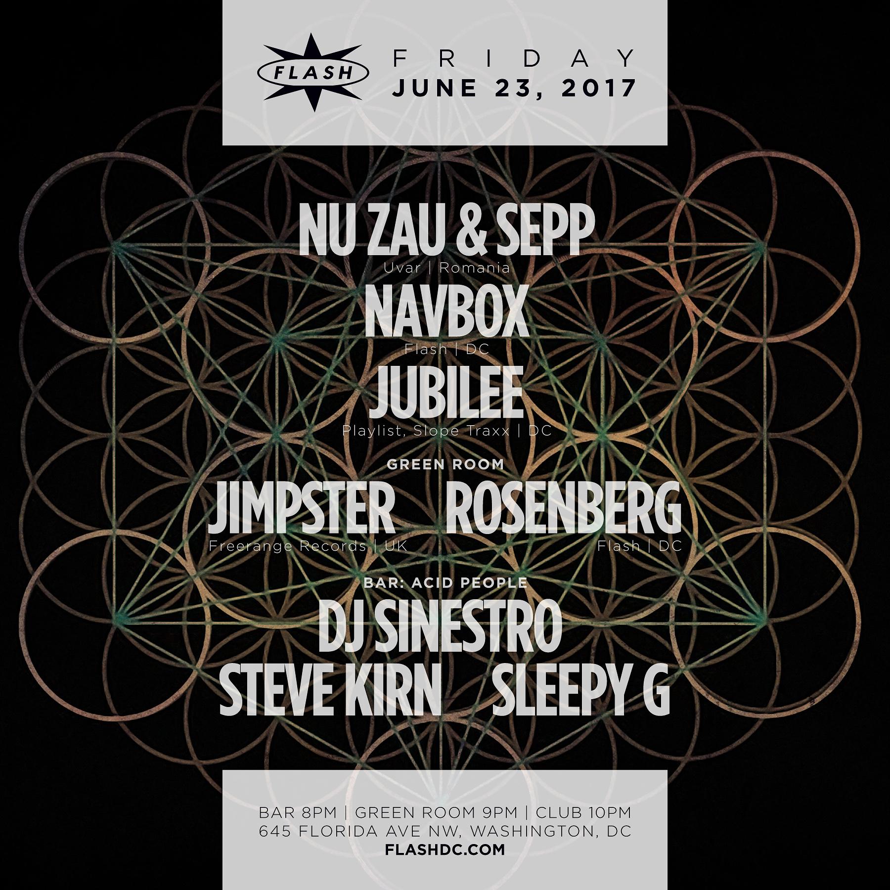 Nu Zau & Sepp - Jimpster - Navbox - Rosenberg - Jubilee - Acid People event thumbnail